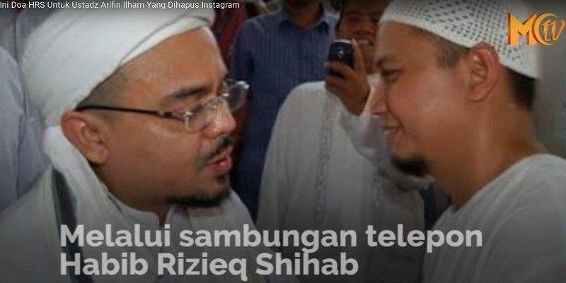 Ini Doa HRS Untuk Ustadz Arifin Ilham Yang Dihapus Instagram