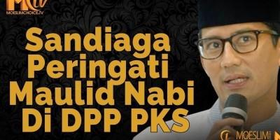 Sandiaga Peringati Maulid Nabi Di DPP PKS