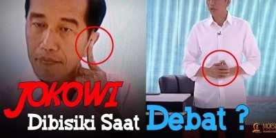 Jokowi Dibisiki Saat Debat ?