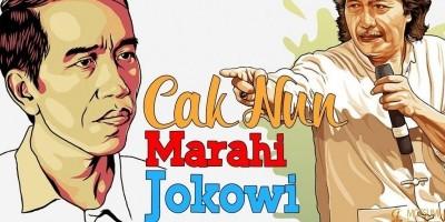 Cak Nun Marahi Jokowi