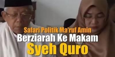 Maruf Amin Berziarah Ke Makam Syech Quro