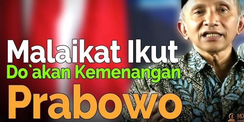 Malaikat Ikut Doakan Kemenangan Prabowo