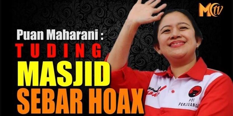 PUAN MAHARANI TUDING MASJID TEMPAT SEBAR HOAX