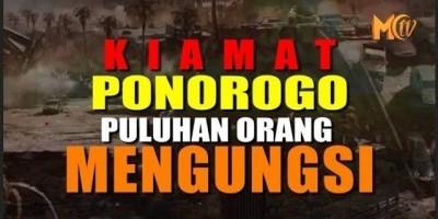Kiamat Ponorogo, Puluhan Orang Mengungsi