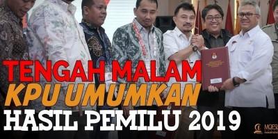Tengah Malam, Kpu Umumkan Hasil Pemilu 2019