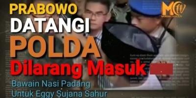 Prabowo Dilarang Besuk Tahanan Di Polda