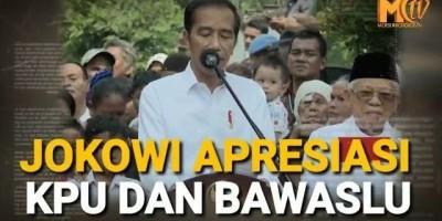 Jokowi Pidato Didampingi Ma'ruf Amin