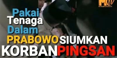 Pakai Tenaga Dalam Prabowo Siumkan Korban Pingsan