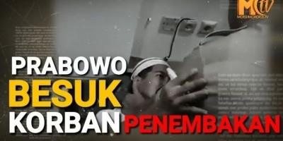 Prabowo Besuk Korban Penembakan