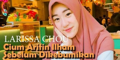 Larissa Chou, Cium Ustadz Arifin Ilham Sebelum Dikebumikan