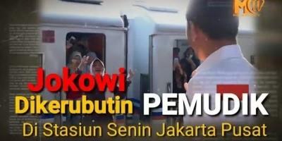 Jokowi Dikerubuti Pemudik