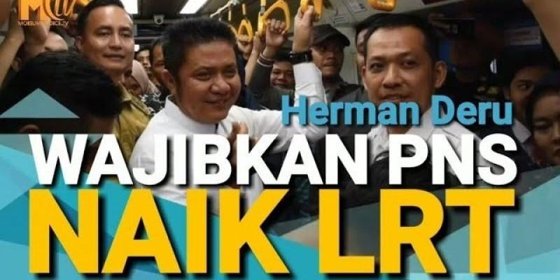 Herman Deru Wajibkan ASN Naik LRT
