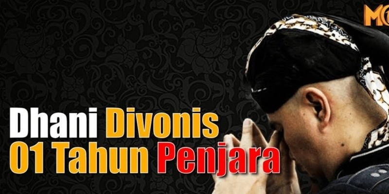 Dhani Divonis 01 Tahun Penjara