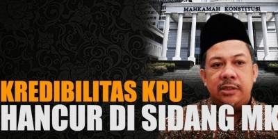 KREDIBILITAS KPU HANCUR DI SIDANG MK