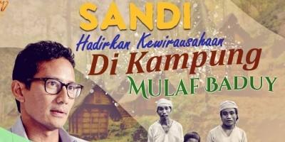 SANDI HADIRKAN KEWIRAUSAHAAN DI KAMPUNG MUALAF BADUY