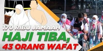 170 RIBU JAMAAH HAJI TIBA, 43 ORANG WAFAT