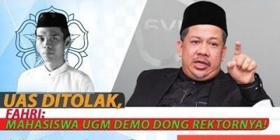 UAS DITOLAK, FAHRI: MAHASISWA UGM DEMO DONG REKTORNYA!