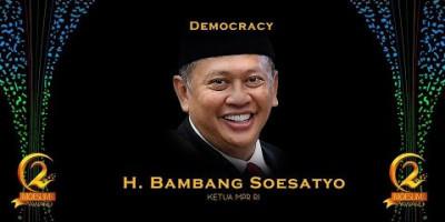 DEMOCRACY AWARD: KETUA MPR RI, BAMBANG SOESATYO