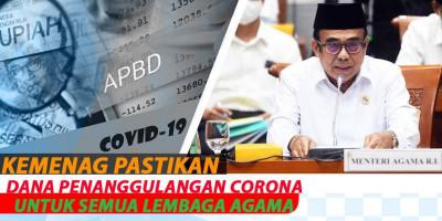 Kemenag Pastikan Dana Penanggulangan Corona Untuk Semua Lembaga Agama