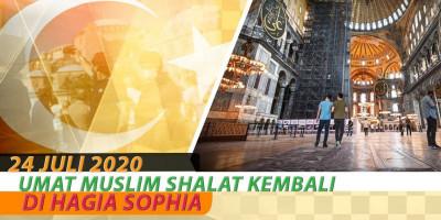 Umat Muslim Shalat Kembali Di Hagia Sophia