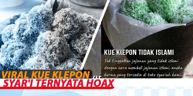 Viral Kue Klepon Syar'i Ternyata Hoax