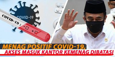 Menag Positif Covid-19, Akses Masuk Kantor Kemenag Dibatasi