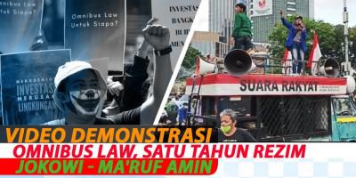 VIDEO DEMONSTRASI OMNIBUS LAW, SATU TAHUN REZIM JOKOWI - MA'RUF AMIN