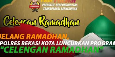 JELANG RAMADHAN, POLRES BEKASI KOTA LUNCURKAN PROGRAM 'CELENGAN RAMADHAN'