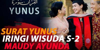 SURAT YUNUS BERGEMA DI WISUDA S-2 MAUDY AYUNDA DI STANFORD UNIVERSITY
