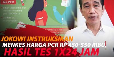 PRESIDEN PERINTAHKAN HARGA PCR RP 450-550 RIBU, HASIL TES 1X24 JAM
