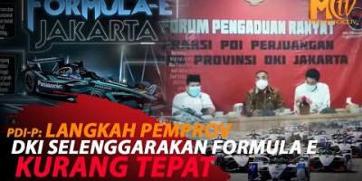 PDI-P SARANKAN ANGGARAN FORMULA E UNTUK BENAHI JAKARTA