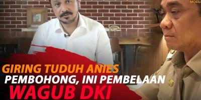 ANIES DITUDUH PEMBOHONG, WAGUB DKI BELA ANIES BASWEDAN
